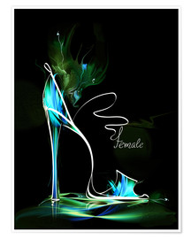 Premium poster Blacklight High Heel
