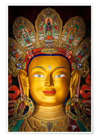 Poster Head of a Buddha statue