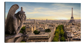 Aluminium print  View over Paris from Notre Dame
