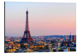 Aluminium print  Eiffel Tower in the evening, Paris