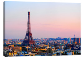 Canvas print  Eiffel Tower in the evening, Paris