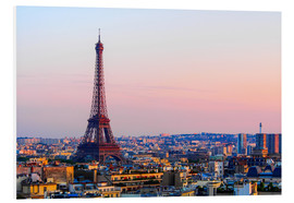 Foam board print  Eiffel Tower in the evening, Paris