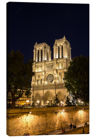 Canvas print  Notre Dame by night, Paris