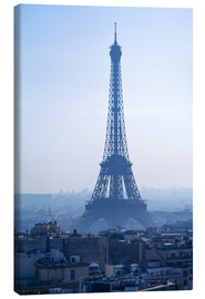 Canvas  Eiffel Tower on blue spring morning