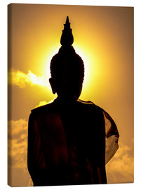 Canvas print  Silhouette of Buddha in the temple