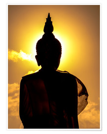 Premium poster  Silhouette of Buddha in the temple