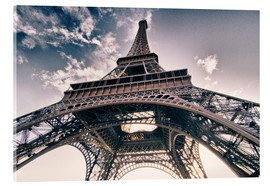 Acrylic print  Paris - up to the sky and back