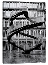 Canvas  Endless steel stairway in Munich