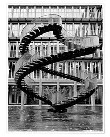 Premium poster Endless steel stairway in Munich
