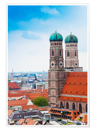 Premium poster  Towers of Frauenkirche in Munich