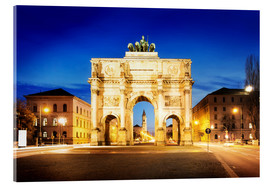 Acrylic print  Victory Arch in Munich at night