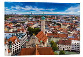 Acrylic glass  Aerial view of Munich