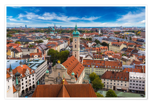 Premium poster Aerial view of Munich