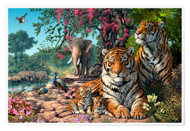 Premium poster Tiger Sanctuary