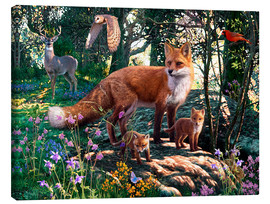 Canvas print  Woodland Wildlife - Steve Read