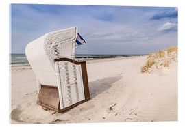 Acrylic print  beach chair on the Baltic Sea