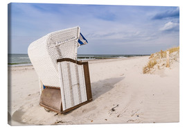 Canvas print  beach chair on the Baltic Sea