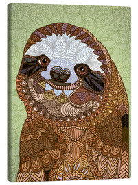 Canvas  Happy Sloth - Angelika Parker