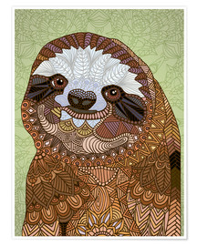Poster Happy Sloth