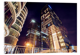 Acrylic glass  Dusseldorf at night