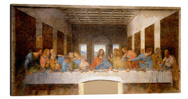 Aluminium print  The Last Supper - Leonardo da Vinci