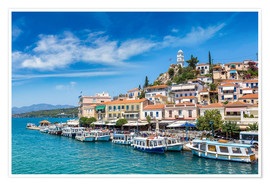 Premium poster  Poros Island on a summer day