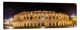 Canvas print  Arena of Verona at night