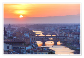 Premium poster  Florence at sunset