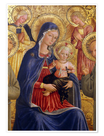 Premium poster Madonna and Child with St. Francis and Bernardine