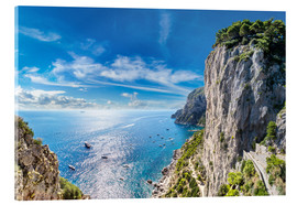 Acrylic print  Cliff on Capri island