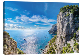 Canvas print  Cliff on Capri island