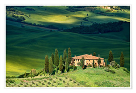 Premium poster House in Tuscany