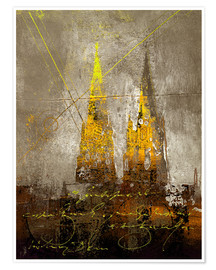 Premium poster cologne cathedrale