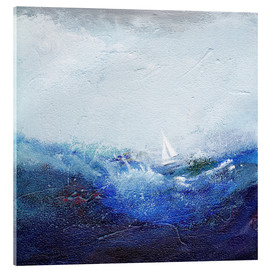 Acrylic print  Boat on the waves - Vittorio Vitale