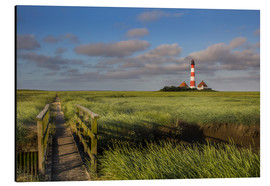 Alu-Dibond  Lighthouse in the salt marshes on the North Coast