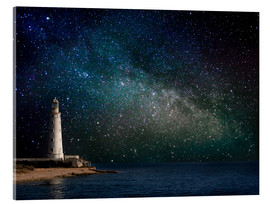 Acrylic print  Lighthouse in starlight