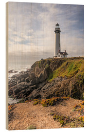 Wood print  Pigeon Point Lighthouse