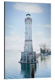 Aluminium print  beautiful lighthouse at Lindau