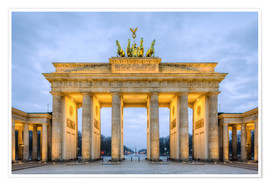Poster Brandenburg Gate in Berlin