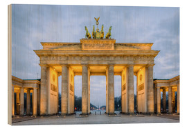 Wood print  Brandenburg Gate, Berlin - Michael Valjak