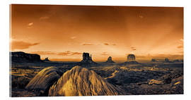 Acrylic print  Kelly Monument Valley - Michael Rucker