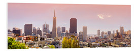 Foam board print  San Francisco Skyline Red - Michael Rucker