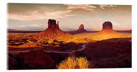 Acrylic print  Monument Valley Gold - Michael Rucker