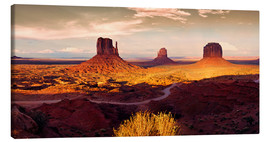 Canvas print  Monument Valley Gold - Michael Rucker