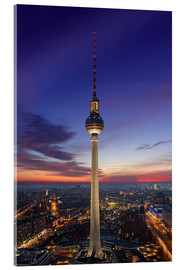 Acrylic print  Berlin TV tower at night