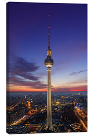 Canvas print  Berlin TV tower at night
