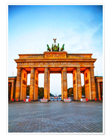 Brandenburg gate at sunrise