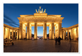Premium poster  Brandenburg gate at dusk