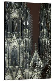 Aluminium print  Detail of Cologne Cathedral