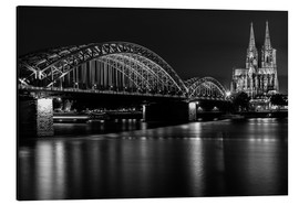 Alu-Dibond  Cologne Cathedral and bridge